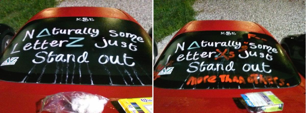 Changing Sorority Girl's Car Paint GangSigns